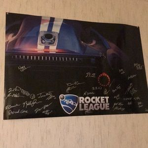 Signed poster of every team member